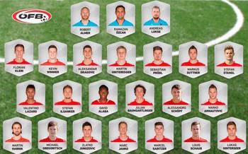 Kader für WM-Quali