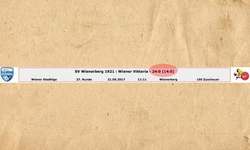 Polsters Wr. Viktoria verliert 0:24!