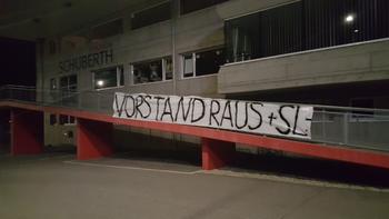 Protestaktion der Melker Fans