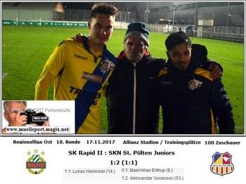 SK Rapid II : SKN St. Pölten Juniors 1 : 2
