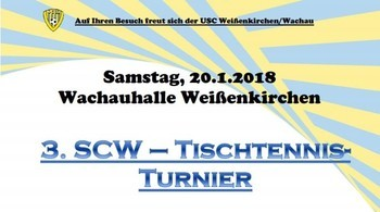 Tischtennis Turnier in Weißenkirchen