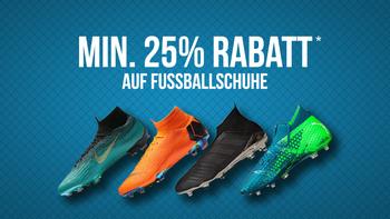 25% Rabatt auf Fussballschuhe