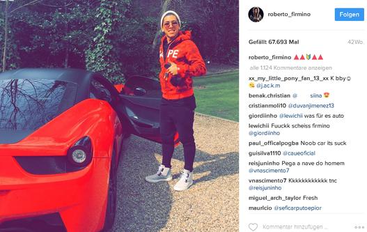 Roberto Firmino Instagram