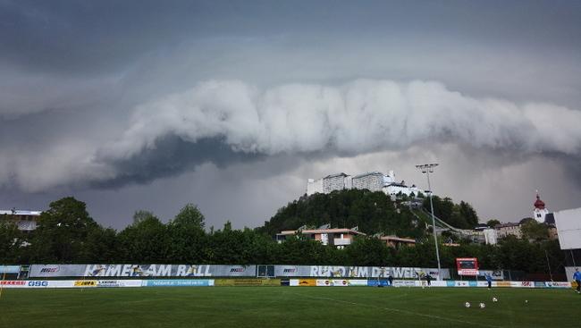 Stadion SAK Schlechtwetter