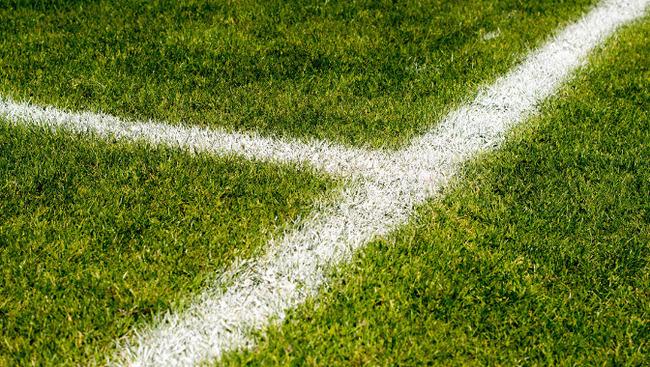 Rasen Fußballplatz Fußballfeld Symbolbild