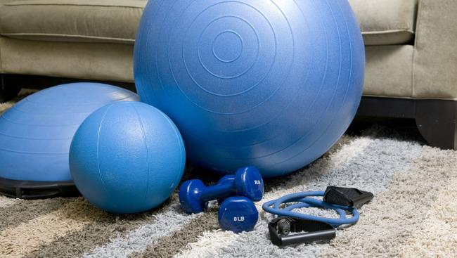 Fitness Zuhause Übungen Symbolbild