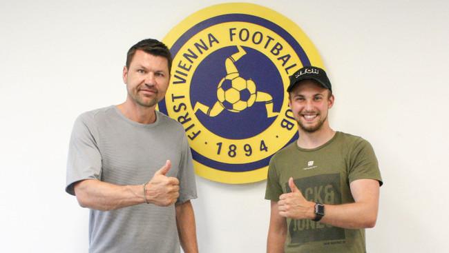 Sportdirektor Markus Katzer (links), Spieler Lorenz Grabovac (rechts)