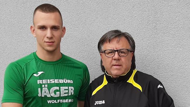 GAL ZINIC (Stürmer) aus Slovenia mit Manager Günter Dokter
