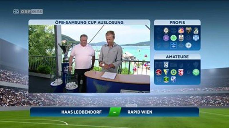 ÖFB-Cup: Hammerlose für Amateurteams