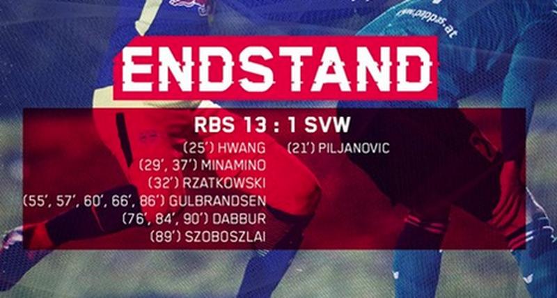 RB Salzburg-Kantersieg gegen Wals