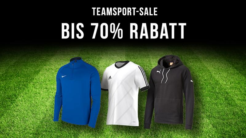 Teamsport-SALE: bis zu 70% Rabatt!