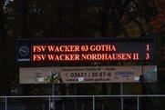 Thüringenliga: Wacker Gotha - Wacker Nordhausen II 1:3 (0:2)