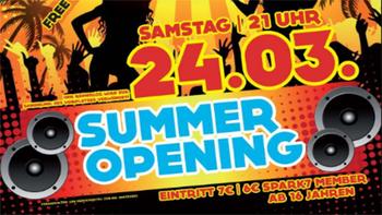 Summer Opening steht vor der Türe