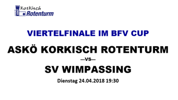 BFV-Cup: Rotenturm empfängt Wimpassing