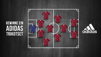 Gewinne ein adidas-Dressenset für deinen Verein