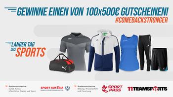 """11teamsports unterstützt den """"Langen Tag des Sports"""""""