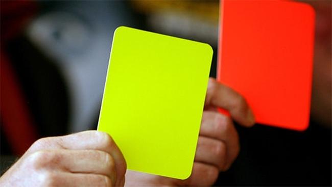 gelb -rote Karte